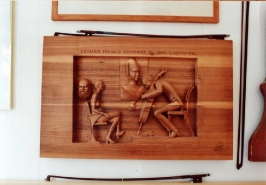 Reliéf hudební motiv :: rezbarstvi-relief-hudebni-motiv